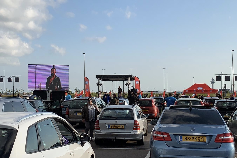 FNV demonstratie Schiphol 2020
